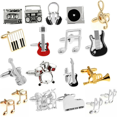 Hamilton Musical Instrument Cufflinks (Guitar, Keyboard, Sax, Piano)