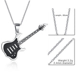 Hamilton Gifts Stainless Steel Guitar Necklace Pendant
