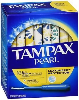 Tampax Pearl Tampons Regular Absorbency Unscented 18 EA