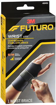 FUTURO Compression Stabilizing Wrist Brace Left Moderate Support Small/Medium