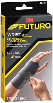 FUTURO Compression Stabilizing Wrist Brace Left Moderate Support L/XL