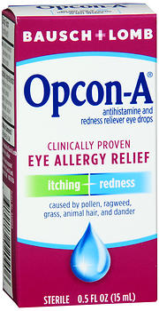 Bausch + Lomb Opcon-A Eye Drops 0.5 OZ