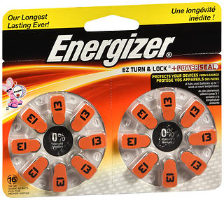 Energizer Hearing Aid Batteries AZ13DP-16