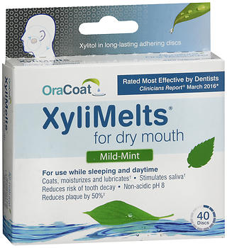 OraCoat XyliMelts for Dry Mouth Discs Mild-Mint
