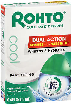 Rohto Cool Eye Drops Dual Action 0.4 OZ