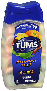 TUMS Antacid Ultra Strength 1000 Chewable Tablets Assorted Fruit