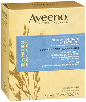 AVEENO Active Naturals Soothing Bath Treatment Packets Fragrance Free 8 EA