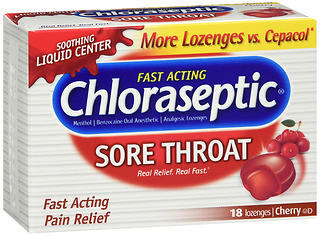 Chloraseptic Sore Throat Lozenges Cherry