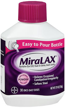 MiraLAX Osmotic Laxative Unflavored Powder 17.9 OZ