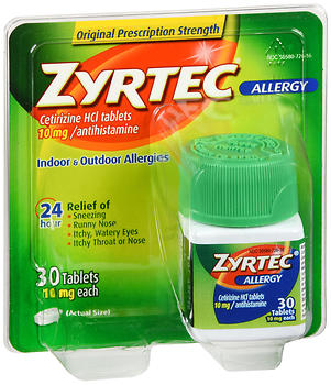 Zyrtec Allergy 10 mg Tablets 30 TB