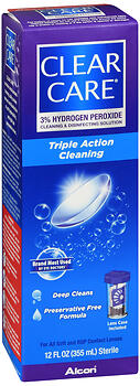 Clear Care Triple Action Cleaning & Disinfecting Solution 12 oz