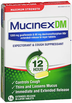 Mucinex DM Expectorant & Cough Suppressant Extended-Release Bi-Layer Tablets Maximum Strength 14 TB