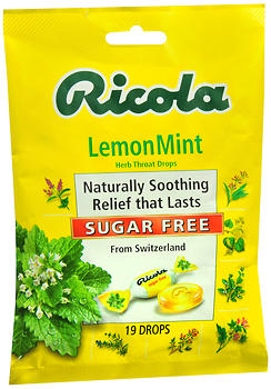 Ricola Herb Throat Drops Sugar Free Lemon Mint