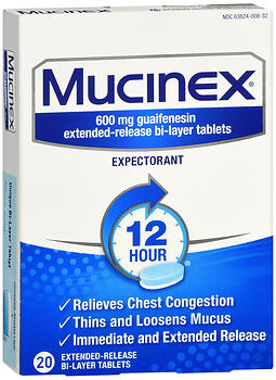 Mucinex Expectorant Extended-Release Bi-Layer Tablets 20 CT