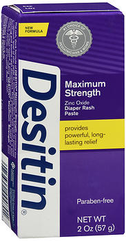 DESITIN Zinc Oxide Diaper Rash Paste Maximum Strength 2 oz