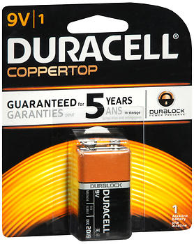 Duracell Alkaline Battery 9V