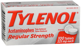 TYLENOL Regular Strength Tablets 100 TB