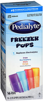 Pedialyte Electrolyte Solution Freezer Pops Assorted Flavors
