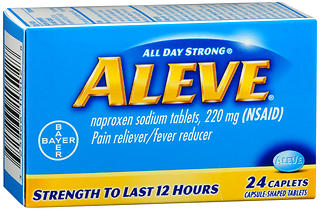 Aleve Pain Reliever/Fever Reducer Caplets 24 CP