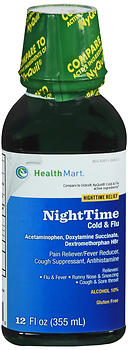 Health Mart Nighttime Cold & Flu Liquid 12 oz