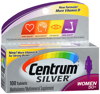 Centrum Silver Women 50+ Multivitamin/Multimineral Tablets 100 CT