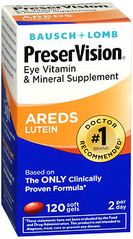 Bausch + Lomb PreserVision AREDS Lutein Soft Gels 120 CP