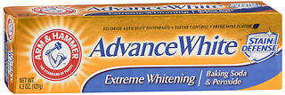 ARM & HAMMER Advance White Toothpaste Extreme Whitening Baking Soda & Peroxide 4.3 oz