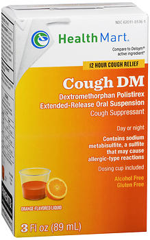 Health Mart Cough DM Orange Flavored Liquid 3 oz