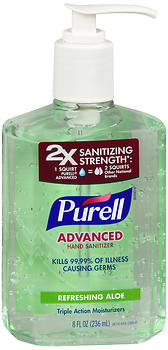 Purell Advanced Hand Sanitizer Refreshing Aloe 8 OZ