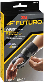 FUTURO Compression Stabilizing Wrist Brace Right Moderate Support L/XL 48402