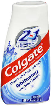 Colgate 2 in 1 Whitening Toothpaste & Mouthwash Liquid Gel 4.6 oz