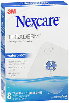 Nexcare Tegaderm Waterproof Transparent Dressings 8 EA