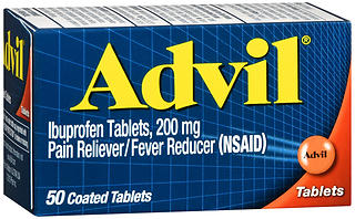 Advil Ibuprofen 200 mg Coated Tablets 50 TB