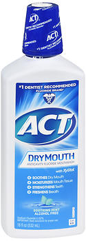 ACT Dry Mouth Anticavity Fluoride Mouthwash Soothing Mint 18 oz