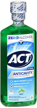 ACT Anticavity Fluoride Mouthwash Mint 18 oz