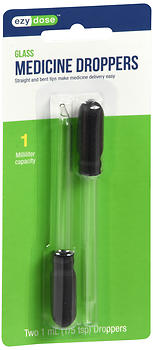 Ezy Dose Glass Medicine Droppers