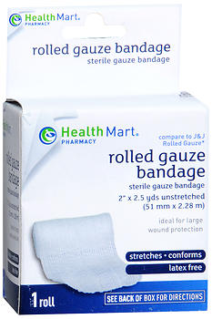 Health Mart Rolled Gauze Bandage 2 in x 2.5 yds 2.5 YD
