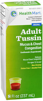 Health Mart Adult Tussin Mucus & Chest Congestion Liquid 8 oz