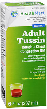Health Mart Adult Tussin Cough + Chest Congestion DM Liquid 8 oz