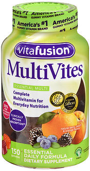 Vitafusion MultiVites Gummies Natural Berry, Peach & Orange Flavors 150 EA