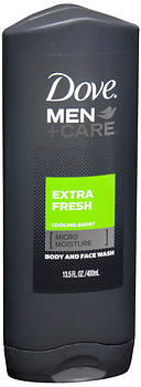 Dove Men+Care Body and Face Wash Extra Fresh 13.5 OZ