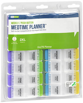 Ezy Dose Weekly/Push-Button Medtime Planner 2XL 67583