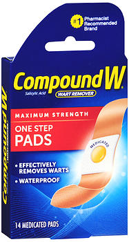 Compound W Wart Remover One Step Pads 14 EA