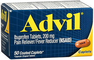 Advil Ibuprofen 200 mg Coated Caplets 50 CP
