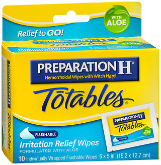 Preparation H Totables Irritation Relief Wipes