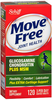 Schiff Move Free Joint Health Advanced plus MSM Coated Tablets 120 TB