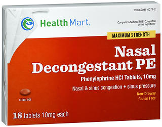 Health Mart Nasal Decongestant PE Tablets