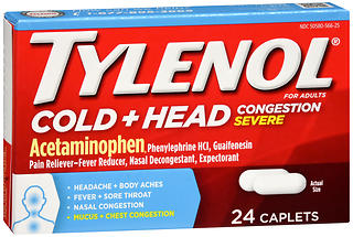 TYLENOL Cold + Head Congestion Severe Caplets 24 CP