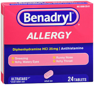 Benadryl Allergy Ultratabs 24TB
