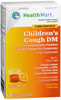 Health Mart Children's Cough DM Liquid Orange-Flavored